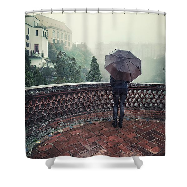 The Day It Rained Shower Curtain