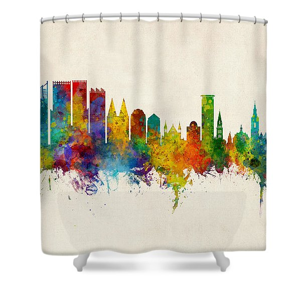 The Hague Netherlands Skyline Shower Curtain