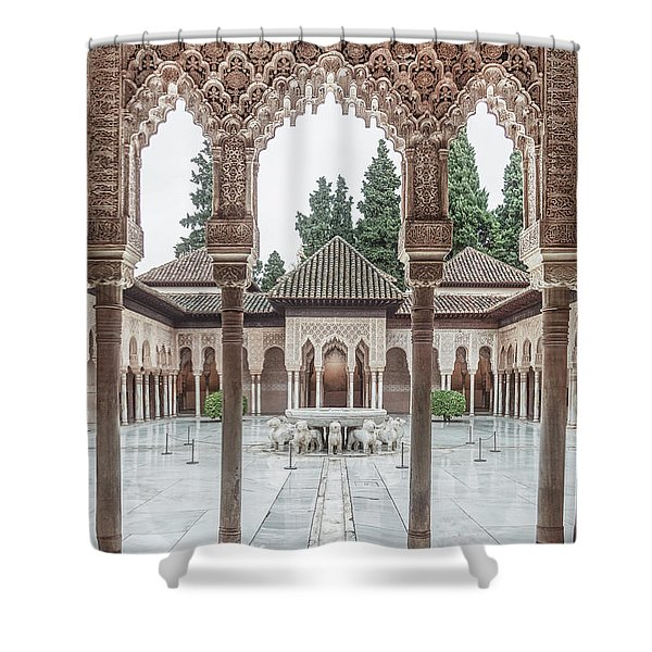 Time Temple Shower Curtain