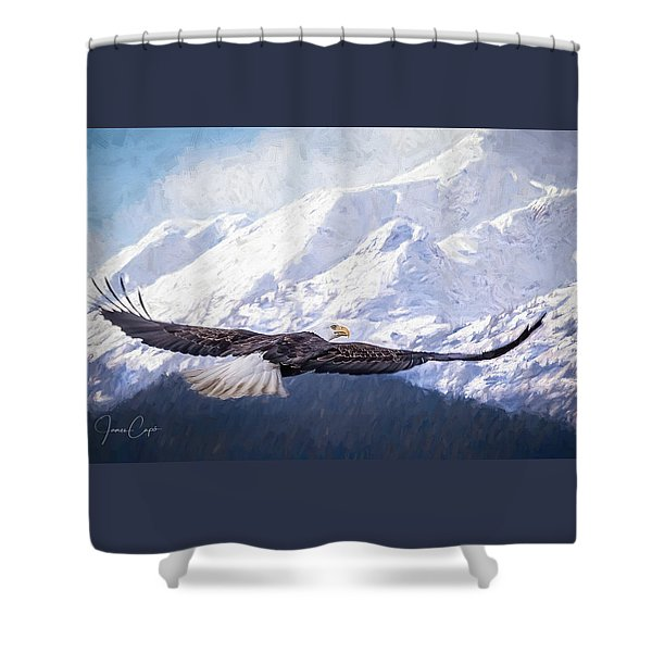 To The Hills... Shower Curtain