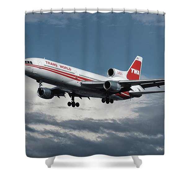 Trans World Airlines L-1011 Tristar Shower Curtain