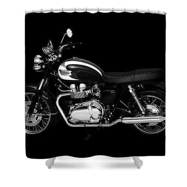 Triumph Bonneville T100 Shower Curtain