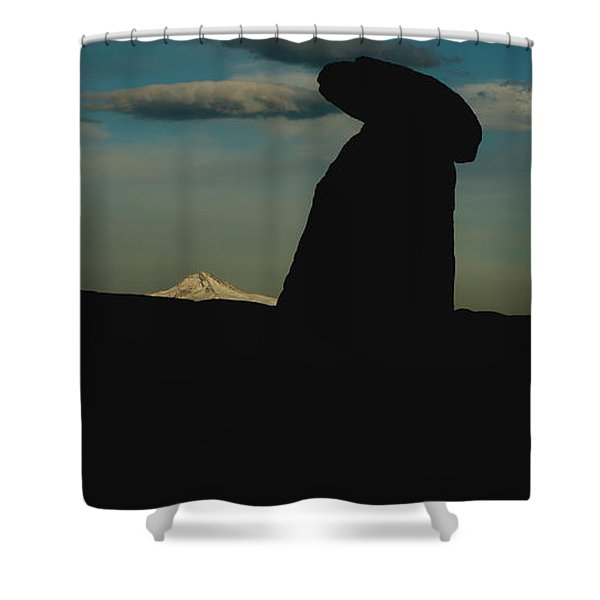 Turkish Landscapes With Snowy Mountains In The Background Shower Curtain