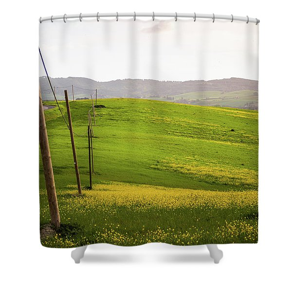 Tuscan Landscapes. Hills In The Spring Shower Curtain