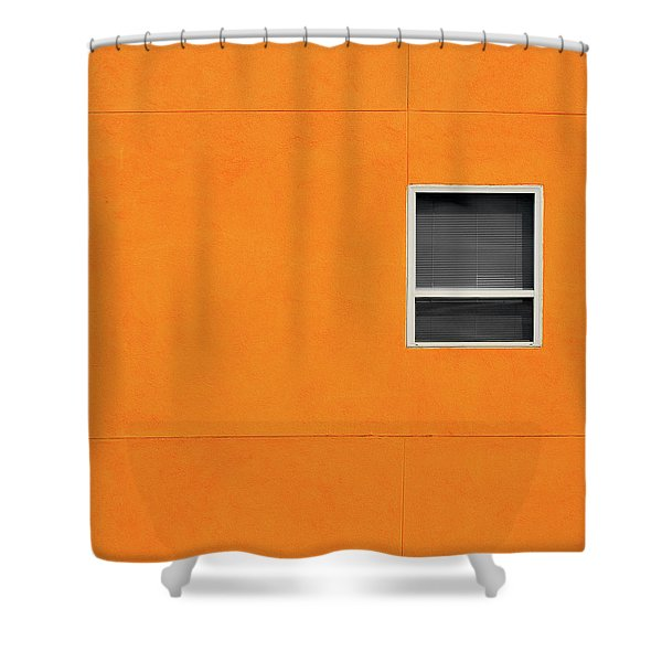 Very Orange Wall Shower Curtain