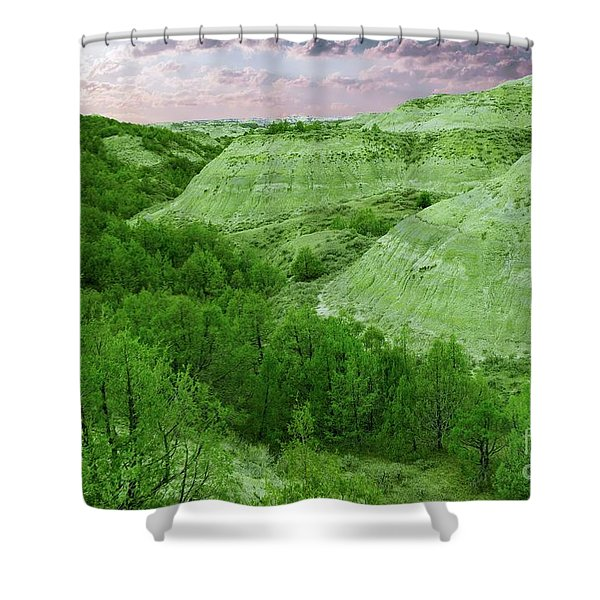 View Of The Badlands Shower Curtain