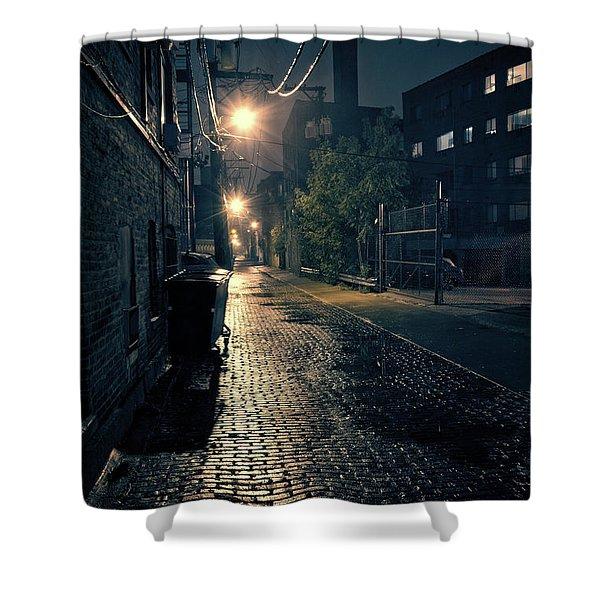 Vintage Chicago Alley Shower Curtain