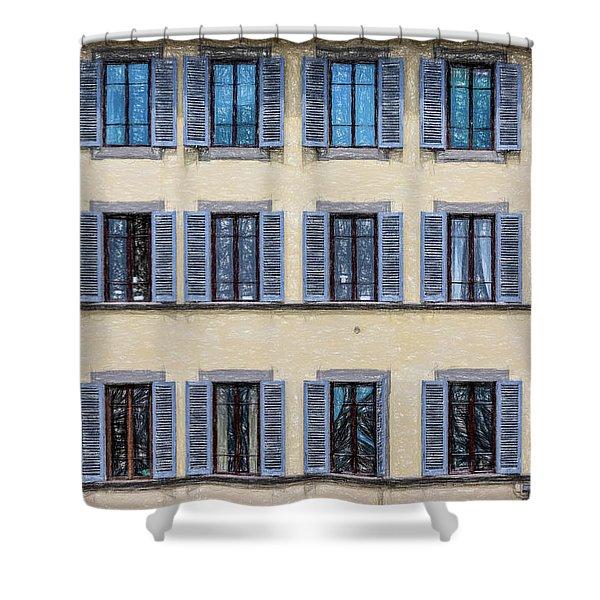 Wall Of Windows II Shower Curtain