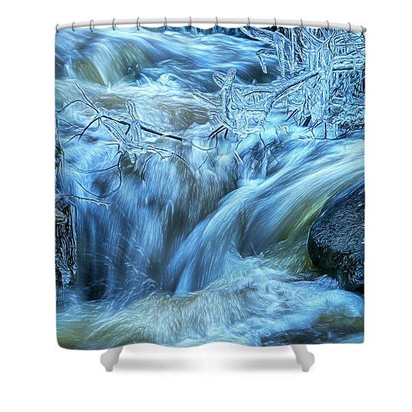 Water And Ice 2 Shower Curtain