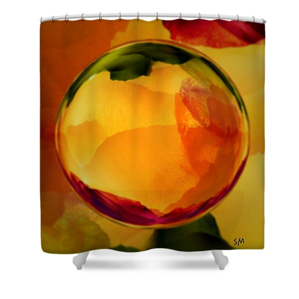 Watercolor Glass Marble  Shower Curtain