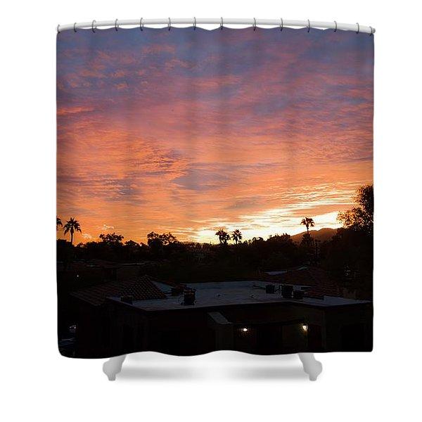 West Coast Vibe Shower Curtain