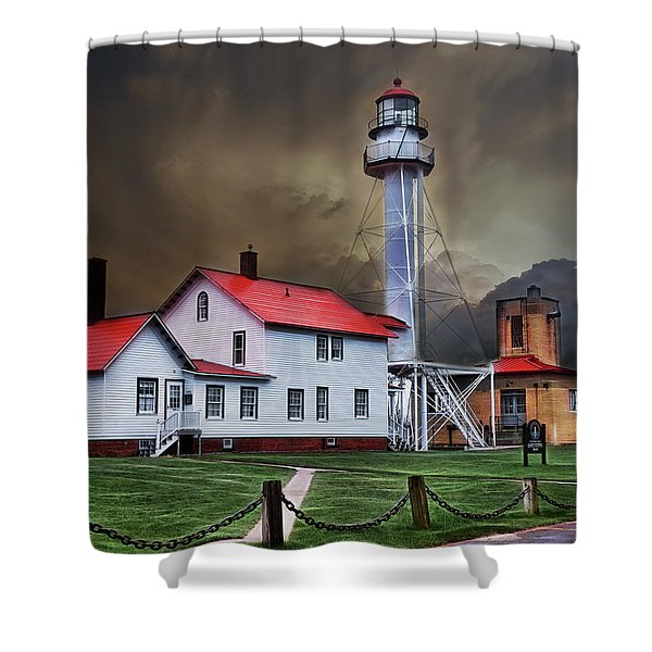 Whitefish Point Lighthouse Shower Curtain