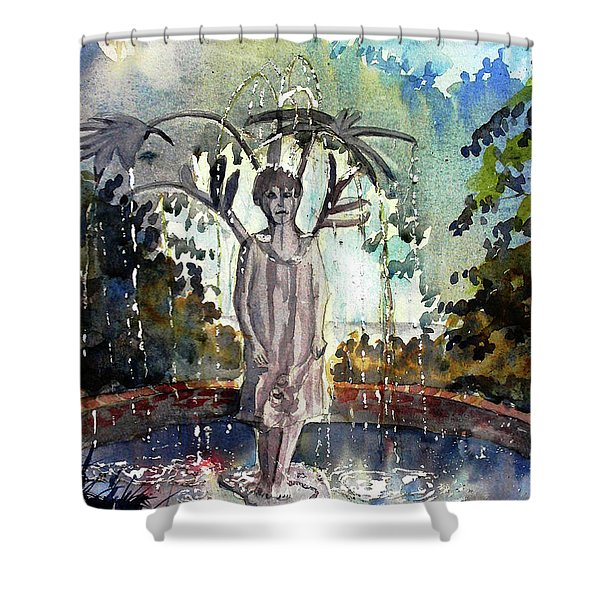 Why Does It Always Rain On Me Shower Curtain