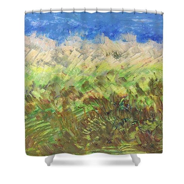 Windy Fields Shower Curtain
