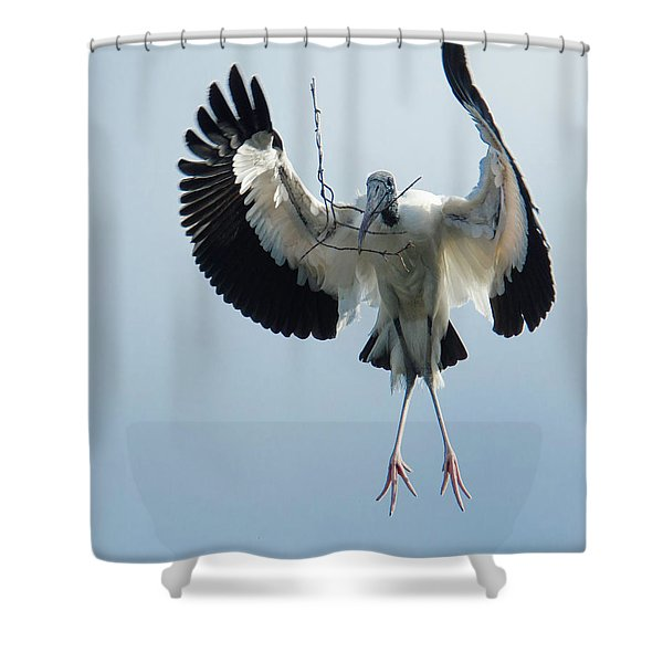 Woodstork Nesting Shower Curtain