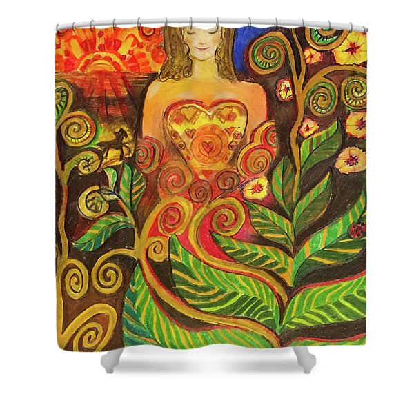 Zen Morning Shower Curtain