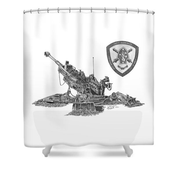 10th Marines 777 Shower Curtain