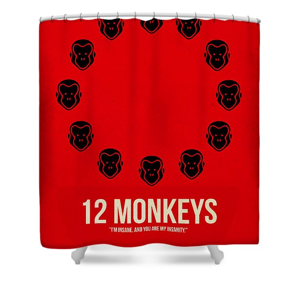 12 Monkeys Shower Curtain