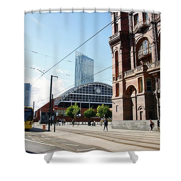 13/09/18  Manchester.  Lower Mosley Street. Shower Curtain