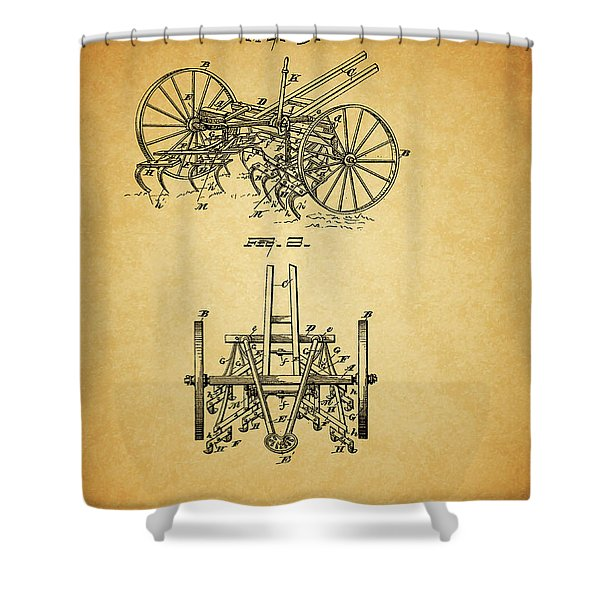 1885 Harrow Patent Shower Curtain