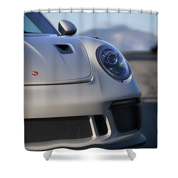 #porsche 911 #gt3rs #print Shower Curtain