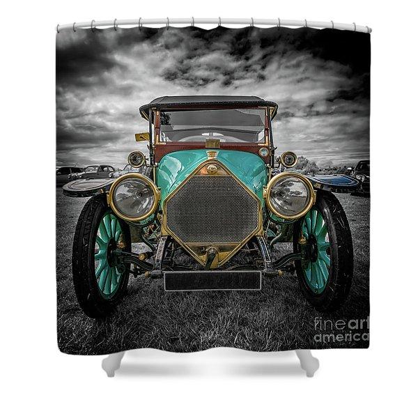 1912 Iris Tourer  Shower Curtain