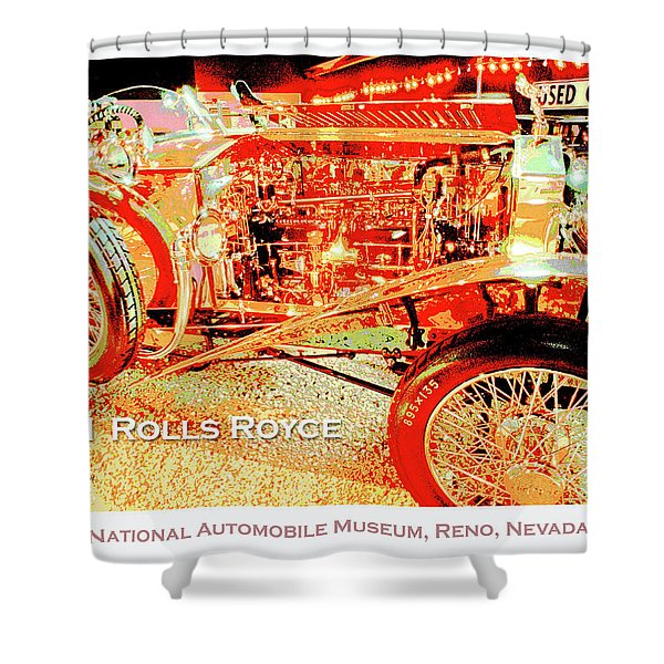 1921 Rolls Royce Classic Automobile Shower Curtain