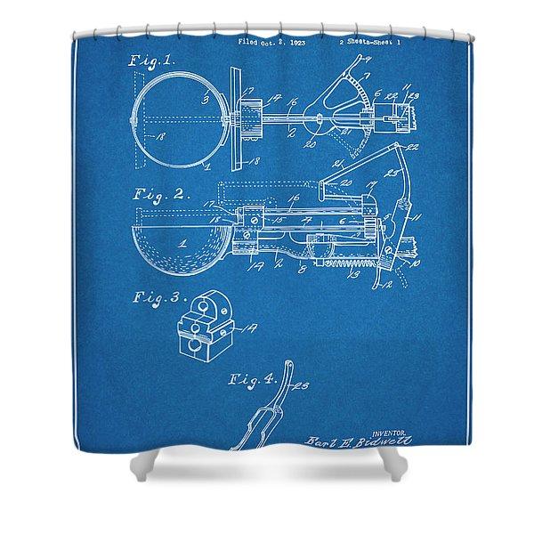1924 Ice Cream Scoop Blueprint Patent Print Shower Curtain