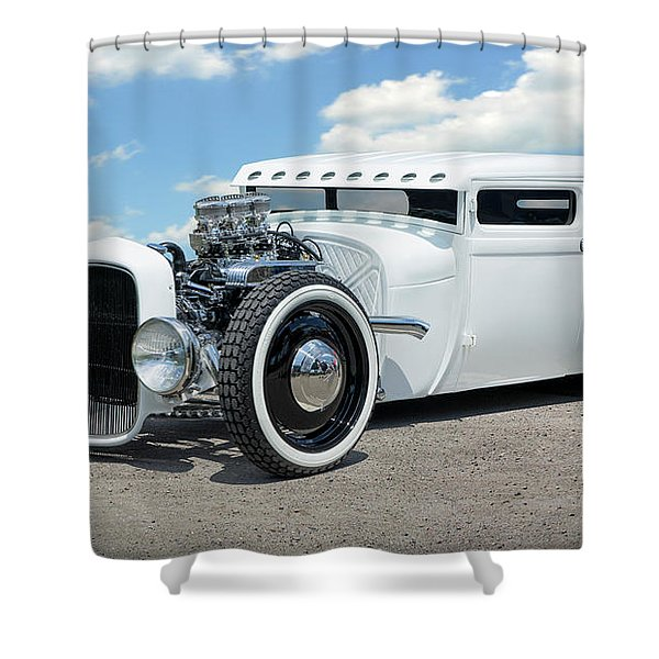 1928 Ford Low Street Rod Shower Curtain