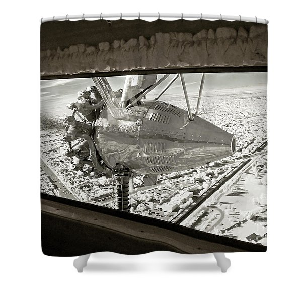 1928 Ford Tri-motor Shower Curtain