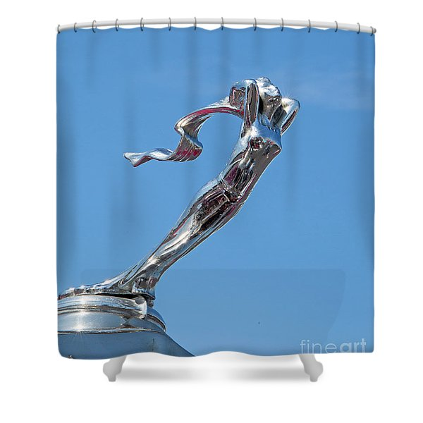 1928 Lasalle Automobile Hood Ornament Shower Curtain
