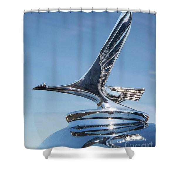 1931 Studebaker Automobile Hood Ornament Shower Curtain