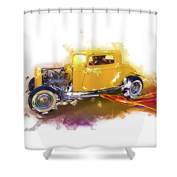 1932 Ford Hotrod Shower Curtain