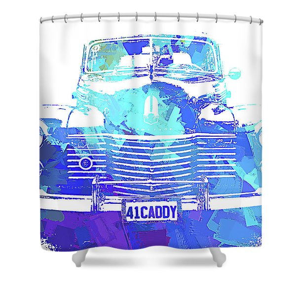 1941 Cadillac Front Abs Blue Shower Curtain