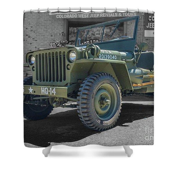 1942 Willys Gpw Shower Curtain