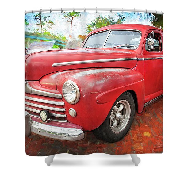1947 Ford Super Deluxe Coupe 001 Shower Curtain