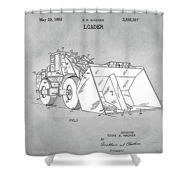 1958 Loader Patent Shower Curtain