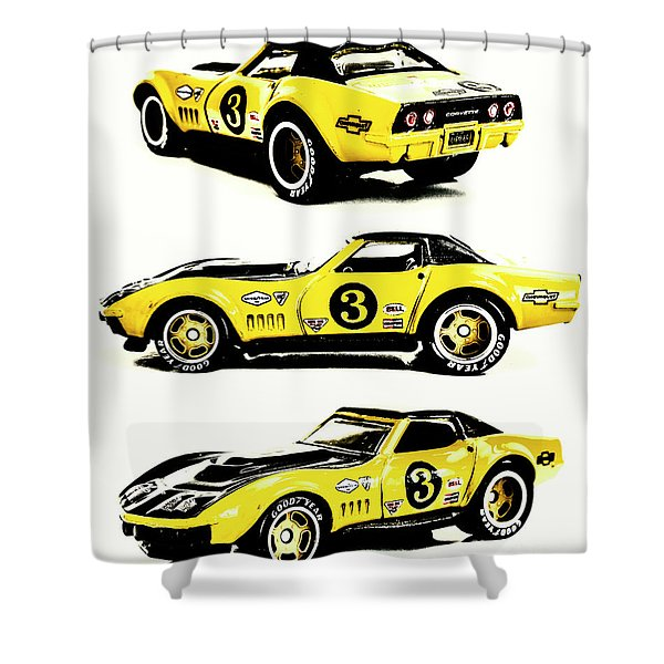 1969 Chevrolet Copo Corvette Shower Curtain