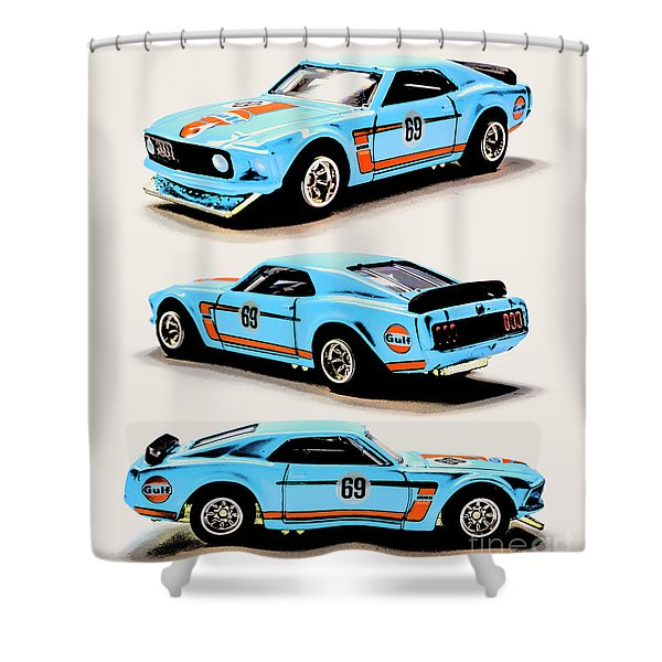 1969 Ford Mustang Boss 302 Shower Curtain