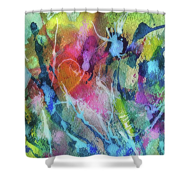 Abstract 224 Shower Curtain