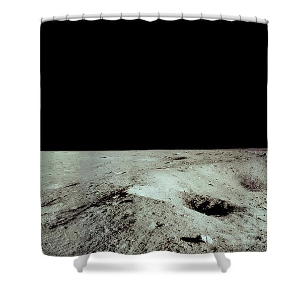 Apollo 11 Panorama Of The First Men Shower Curtain