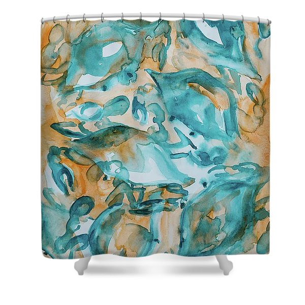 Blue Crabs Together Shower Curtain