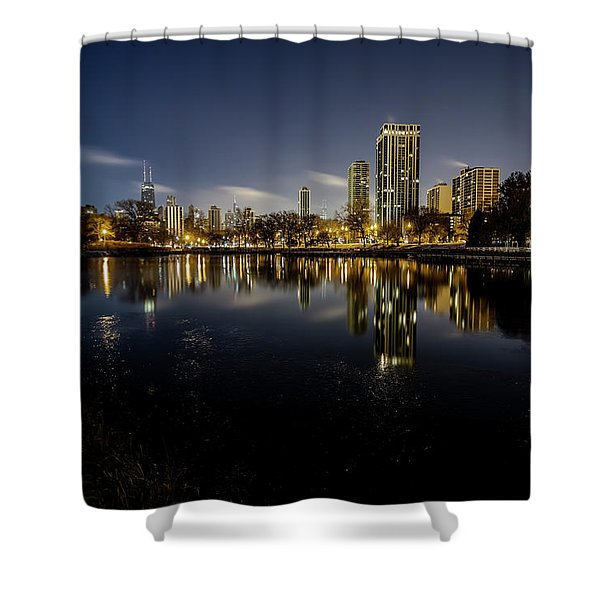 Chicago Skyline At Dawn  Shower Curtain