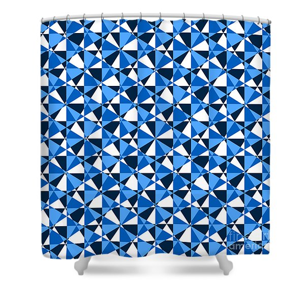 Crazy Psychedelic Art In Chaotic Visual Color And Shapes - Efg22 Shower Curtain