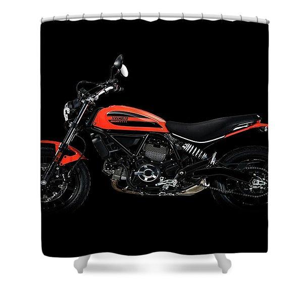 Ducati Scrambler Shower Curtain