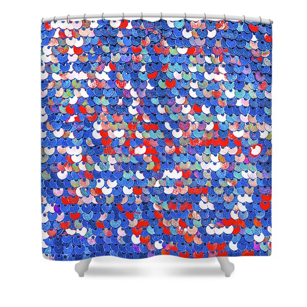 Funky Sequins Shower Curtain