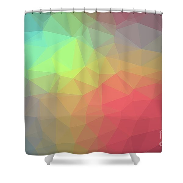Gradient Background With Mosaic Shape Of Triangular And Square C Shower Curtain