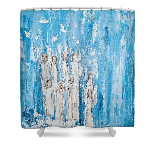 Heavenly Host Of Angels  Shower Curtain
