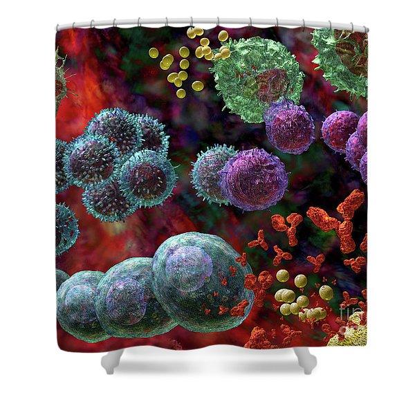 Immune Response Antibody 4 Shower Curtain