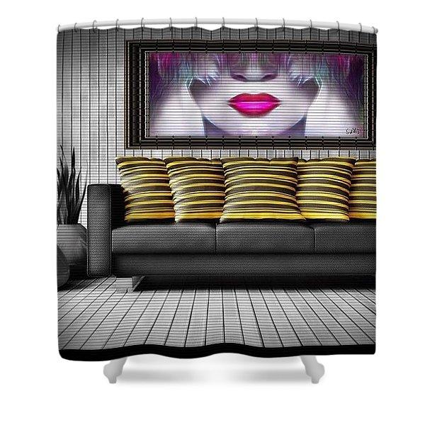 Lady Fashion Beauty Shower Curtain